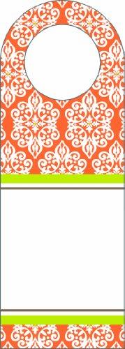Three Designing Women Designer Bottle Tags, Orange Medallion Collection front-70879