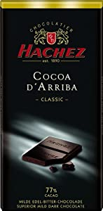 Hachez Cocoa D' Arriba Chocolate Bar, Classic, 3.5 Ounce