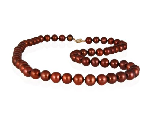 8-8.5MM Natural Freshwater Chocolate Pearl Necklace
