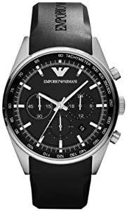 Emporio Armani Men's Sportivo AR5977 Black Plastic Quartz Watch with Black Dial