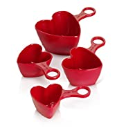 4 Heart Measuring Cups