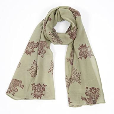 V&A William Morris Print Block Scarf (Green)||RNWIT||EVAEX