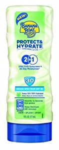 Banana Boat Protect and Hydrate Sunscreen Lotion Spf 30, 6 Ounce