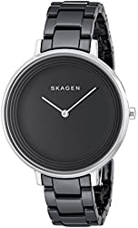 Skagen Women's SKW2303 Ditte Black Stainless Steel Watch with Ceramic Bracelet