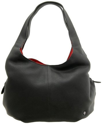 Yoshi Meehan soft, slouchy leather shoulder bag YB31 Black