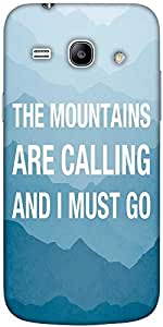 Snoogg Wanderlust Mountains Are Calling 2868 Solid Snap On - Back Cover All A...