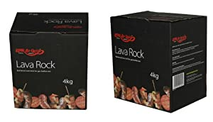 2 X 4kg Lava Rock-Natural volcanic lava rocks for gas barbecues- Bar-Be-Quick
