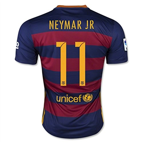 Nike NEYMAR JR #11 Barcelona Home Jersey 2015-16(Authentic name and number)/サッカーユニフォーム バルセロナFC ホーム用 ネイマール JR 背番号11 2015 (M)