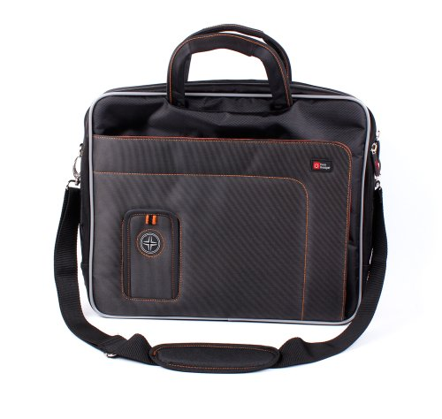 """Duragadget """"Travel"""" Professional Quality Lightweight & Tough 15.6 Inch Laptop Briefcase Carry Case With Padded Shoulder Strap & Multiple Compartments For Lenovo Yoga 2 13"""
