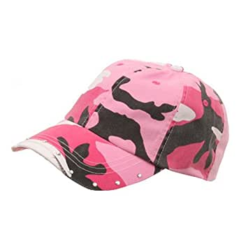 rhinestone washed cotton cap pink camo at s