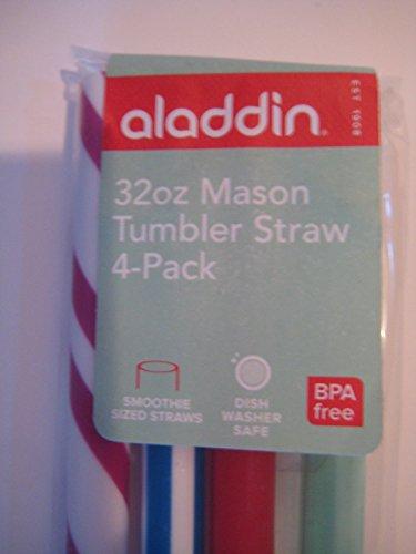 Aladdin 16Oz Or 32Oz Mason Tumbler Straw 4-Pack (32Oz) front-513727