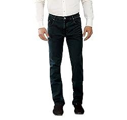 Scotlane Denim Cord Basic Olive Green Jeans