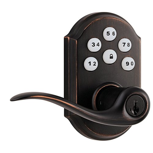 Kwikset 912 Smartcode® Electronic Deadbolt W/Tustin Lever Featuring Smartkey® And Z-Wave In Venetian Bronze