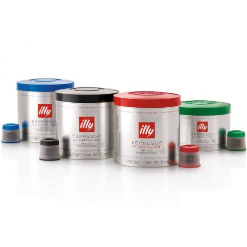 Shop for Illy Espresso roasting N, S, Lungo & decaff. (M.I.E.), 105 capsules, 693 g by Illycaff Spa