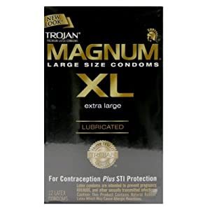 trojan magnum xl extra large condoms lubricated 12 pack