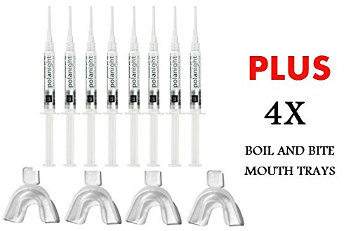SDI PolaNight CP 16% 1.3g 8 Syringe Whitening Gel + 4 Thermoforming Trays (16 Hydrogen Peroxide Teeth compare prices)