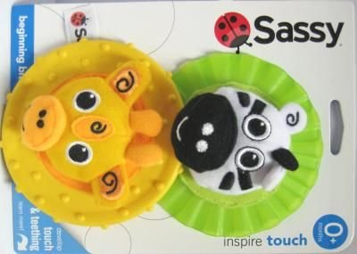 Sassy Beginning Bites Teethers Developmental Toy (3-Pack) by Sassy