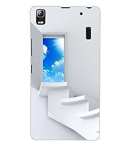 ColourCraft Beautiful Heaven Door Design Back Case Cover for LENOVO A7000 PLUS
