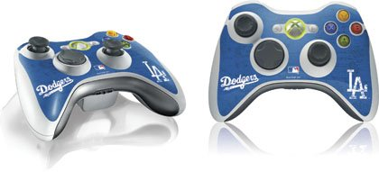 Mlb - Los Angeles Dodgers - Los Angeles Dodgers- Alternate Solid Distressed - Skin For Microsoft Xbox 360 Wireless Controller