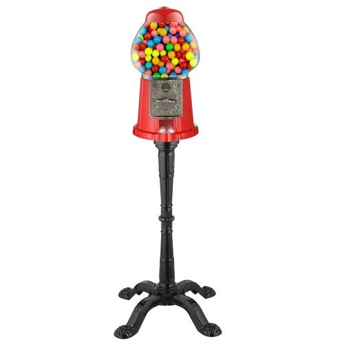 Carousel King Gumball Machine Bank with Stand, 15 tall - Die cast Metal Glass Globe (15 w/ Stand, Red) Size: 15 w/ Stand Color: Red Model: (Newborn, Child, Infant) (Die Cast Gumball Machine compare prices)