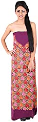 Koshur Creations Women's Cotton Unstitched Material (KC-15, Magenta)