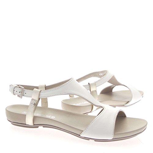 Samsonite SFW102409 Sandalo Donna 100% Pelle Bianco Bianco 36
