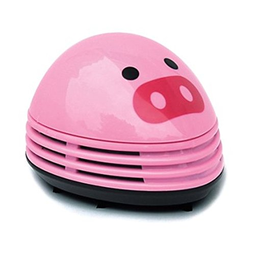 discoGoods Annoyed Prints Emoticon Pattern Battery Operated Desktop Vacuum Cleaner Mini Dust Cleaner (Pink pig) (Steam Mop Ladybug compare prices)