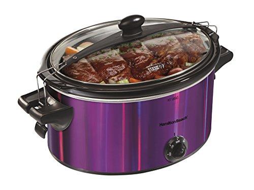 Hamilton Beach 33454 Shimmer Finish Slow Cooker, Purple, 5 quart (5qt Slow Cooker compare prices)