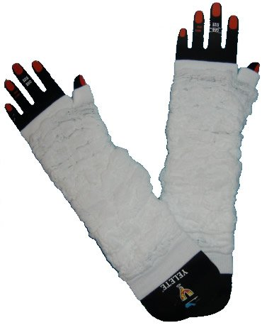 Arm Warmers Ruffled White