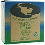 Beyond Gourmet Unbleached Coffee Filters, 100 Basket Style Filters