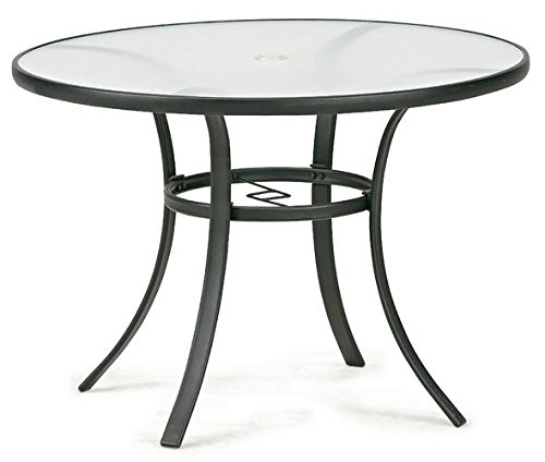 Round Dining Table Seats 4 Glass Top 40 Inch Diameter Patio010