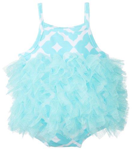 Mud Pie Baby-Girls Infant Mesh Geo Print Swim Suit, Multi, 12-18 Months front-536964