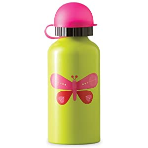 Stainless Steel Drinking Bottle (Pink Butterfly) By Crocodile Creek