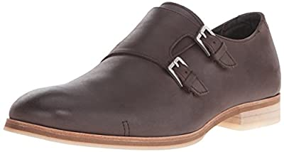 Calvin Klein Men's Faber Washed Leather Monk Strap