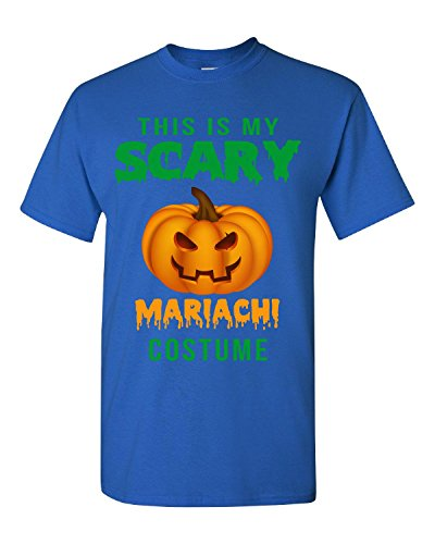 [Halloween This Is My Scary Mariachi Costume - Adult Shirt L Royal] (Mens Mariachi Halloween Costume)
