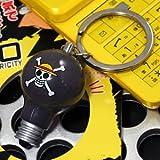 静電気除去!光る電球型マスコットキーホルダー(ワンピース/ルフィ)