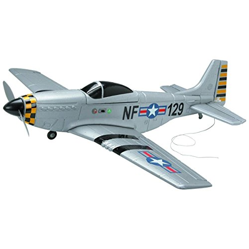 New 4CH RC Rechargeable Remote Radio Control P51 Mustang Airplane