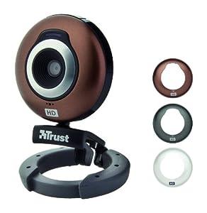 Trust Widescreen HD Webcam, austauschbare Oberschale, 1 Megapixel, integr. Mikrofon, anthrazit