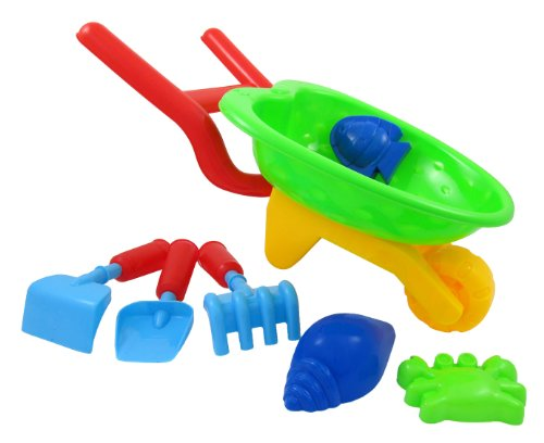 Beach Wheelbarrow Wagon Toy Set for Kids with Sand Playset (color may vary)