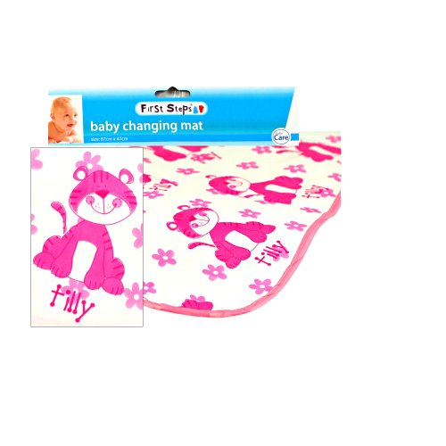 Baby Changing Mat 67cm x 47cm (Pink Tilly)