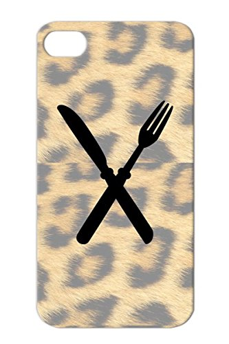 Fork And Kinfe Serve Taste Restaurant Chefs Hat Cooking Baking Food Satire Roasting Tasty Cool Tasting Grilling Gourmet Hobby Stove Cartoon Meal Funny Comic Chef Kitchen Cutlery Knives Menu Pan Forks Black For Iphone 4 Shock-Absorbent Cover Case