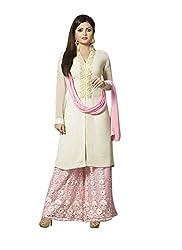 Khushi Trendz Georgette Pink Semi Stitched Salwar Suit