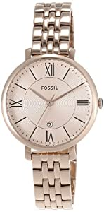 Fossil Damen-Armbanduhr Analog Quarz Edelstahl beschichtet ES3435