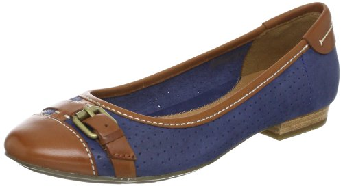 Clarks Henderson Fun Closed Womens Brown Braun (Tan Combi) Size: 7.5 (41.5 EU)