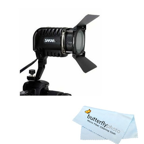 300 Watt Professional Super Powerful Video Light for Camcorders & Camera + FREE CLEANING KIT + Free Mini Tripod + BP MicroFiber Cleaning Cloth