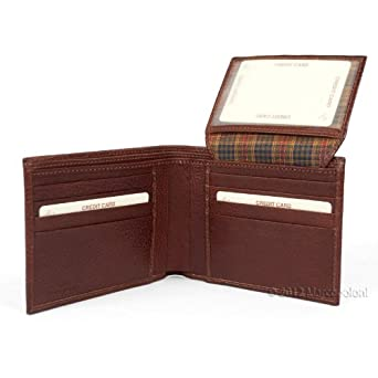 LIRA - Men's Italian Leather Wallet with Privacy ID Flap (Brown)