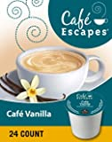 Cafe Escapes Cafe Vanilla Coffee (1 Box of 24 K-Cups)