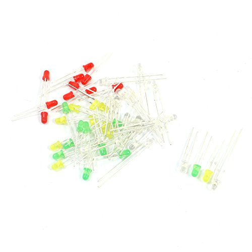 50Pcs 3Mm Dia Brightlight Multicolored Led Lamp Bulbs Emitting Diodes