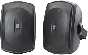Yamaha NS-AW390BL 2-Way Indoor/Outdoor Speakers (Pair, Black) (Discontinued by Manufacturer)