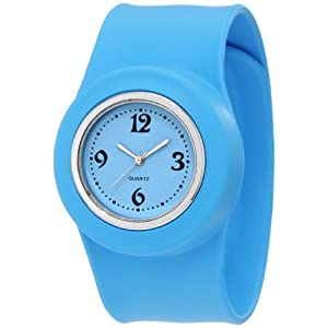 GGI International Kids' SLA-BLUE Slap On Silicone Watch